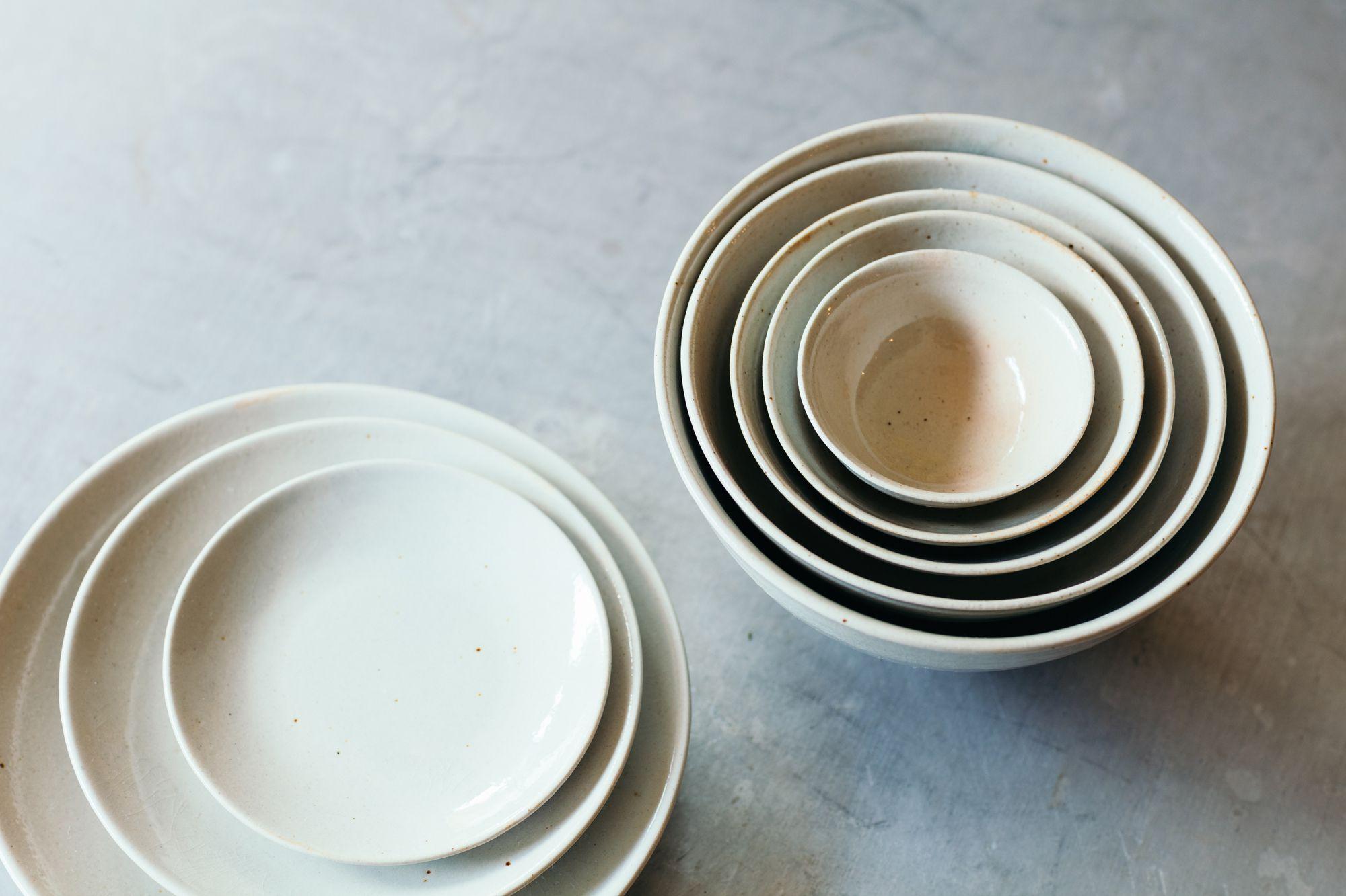 細川亜衣とのコラボで作り出された「五椀三皿」。