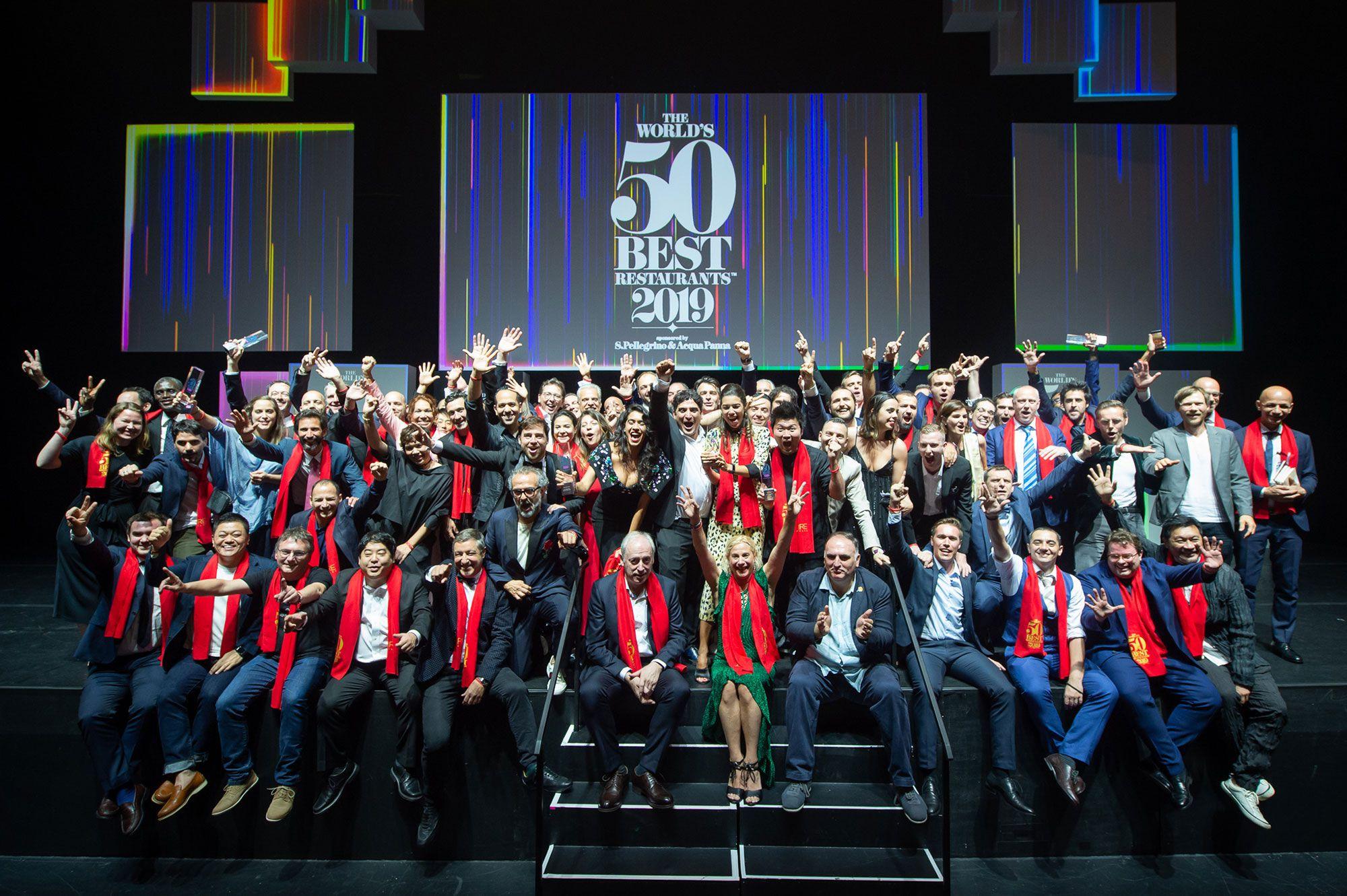 Winners of the World's 50 Best Restaurants 2019