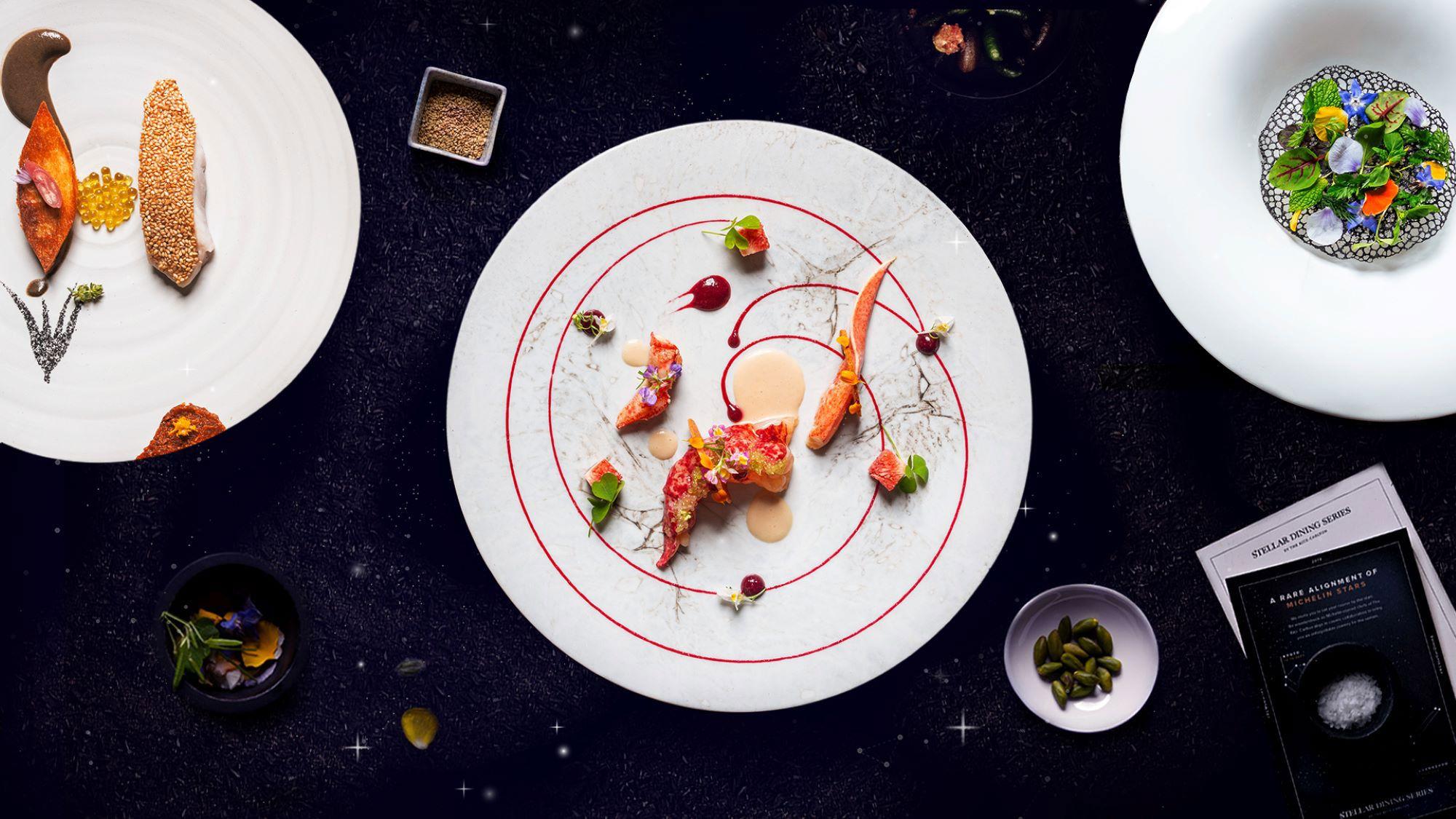 ザ・リッツ・カールトン東京では、3人のスターシェフの饗宴「シックスハンズディナー」を提供。