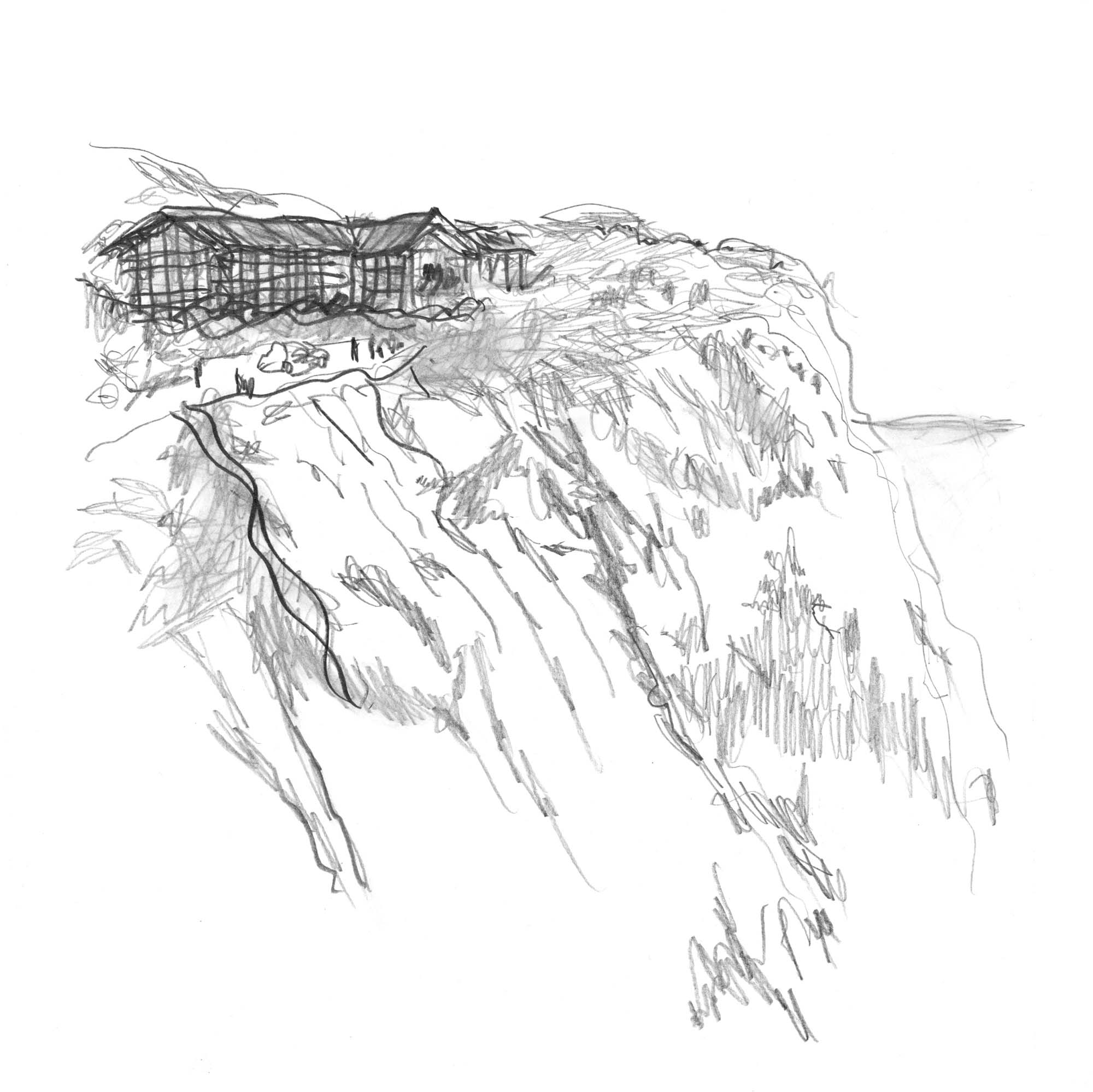 The sketch of the Rokkosan Silence Resort by Michele De Lucchi ©️Rokkosan silence resort