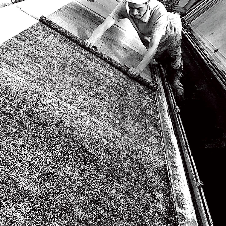 京都の手法である摺剥がし技法。