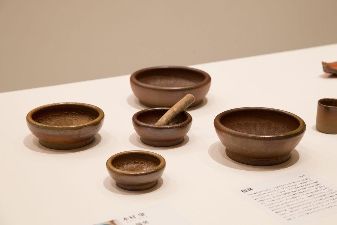 備前 木村肇(一陽窯)/すり鉢 子供の離乳食用のすり鉢を捜し求めたが、しっくりする既製品がなく自作したという作品。Photography Shinpei Kato