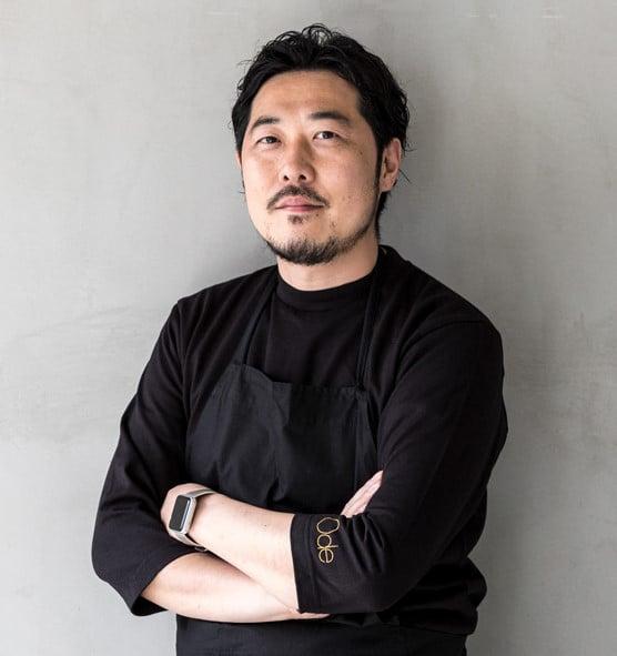レストラン「Ode」の生井祐介シェフ。