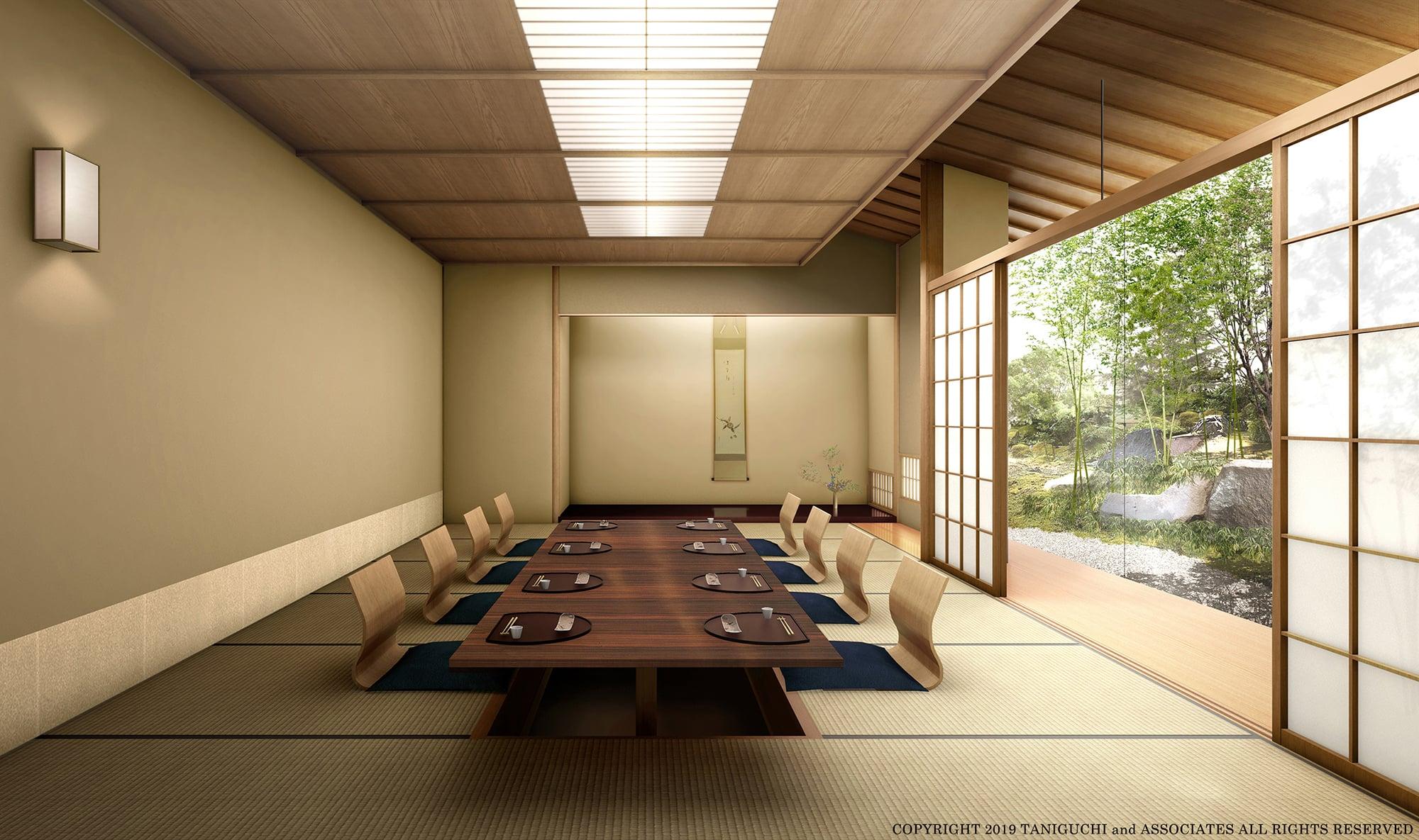The Okura Tokyoの山里の個室イメージ。