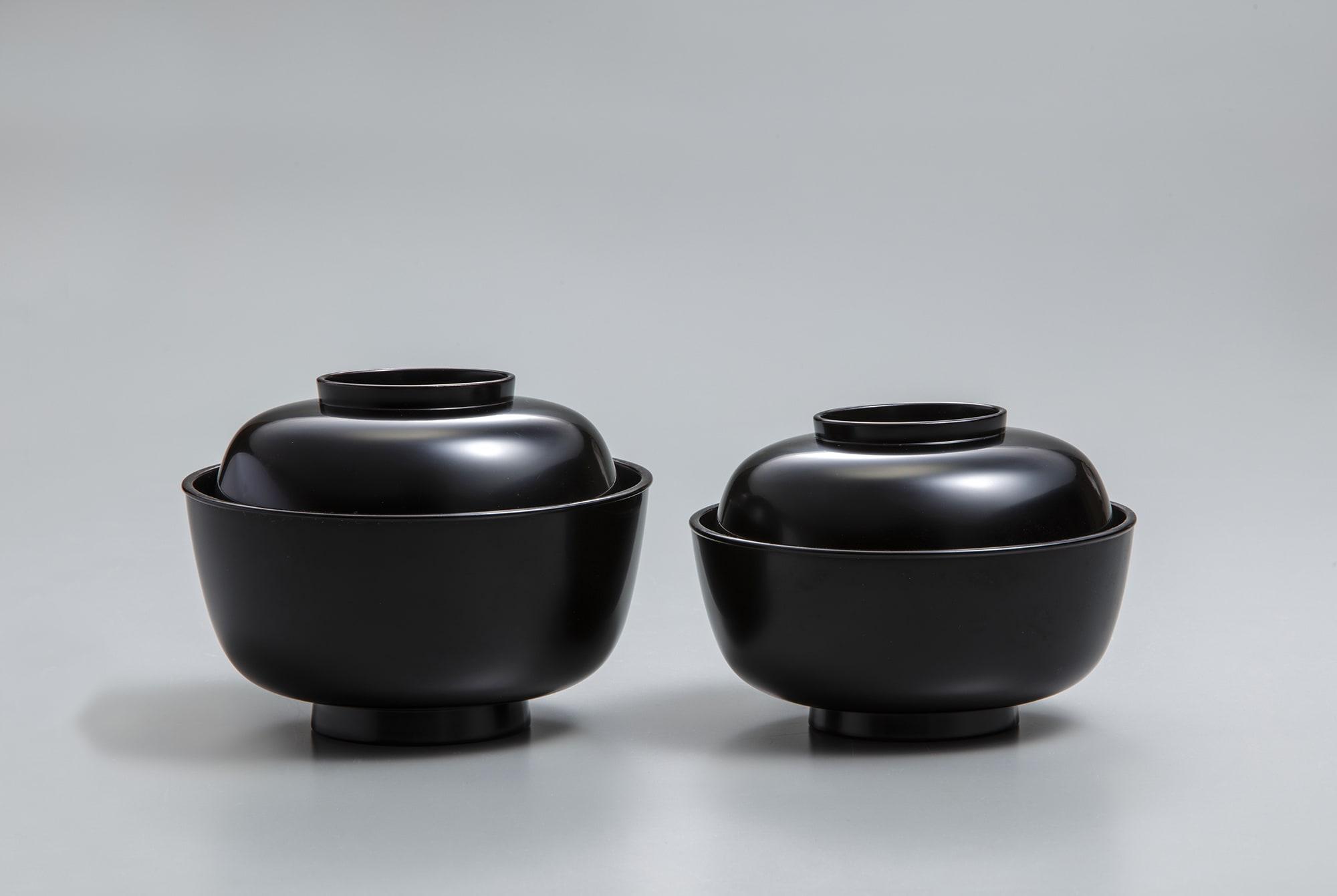 黒塗小丸椀(飯・汁) 八代中村宗哲 江戸時代・19 世紀