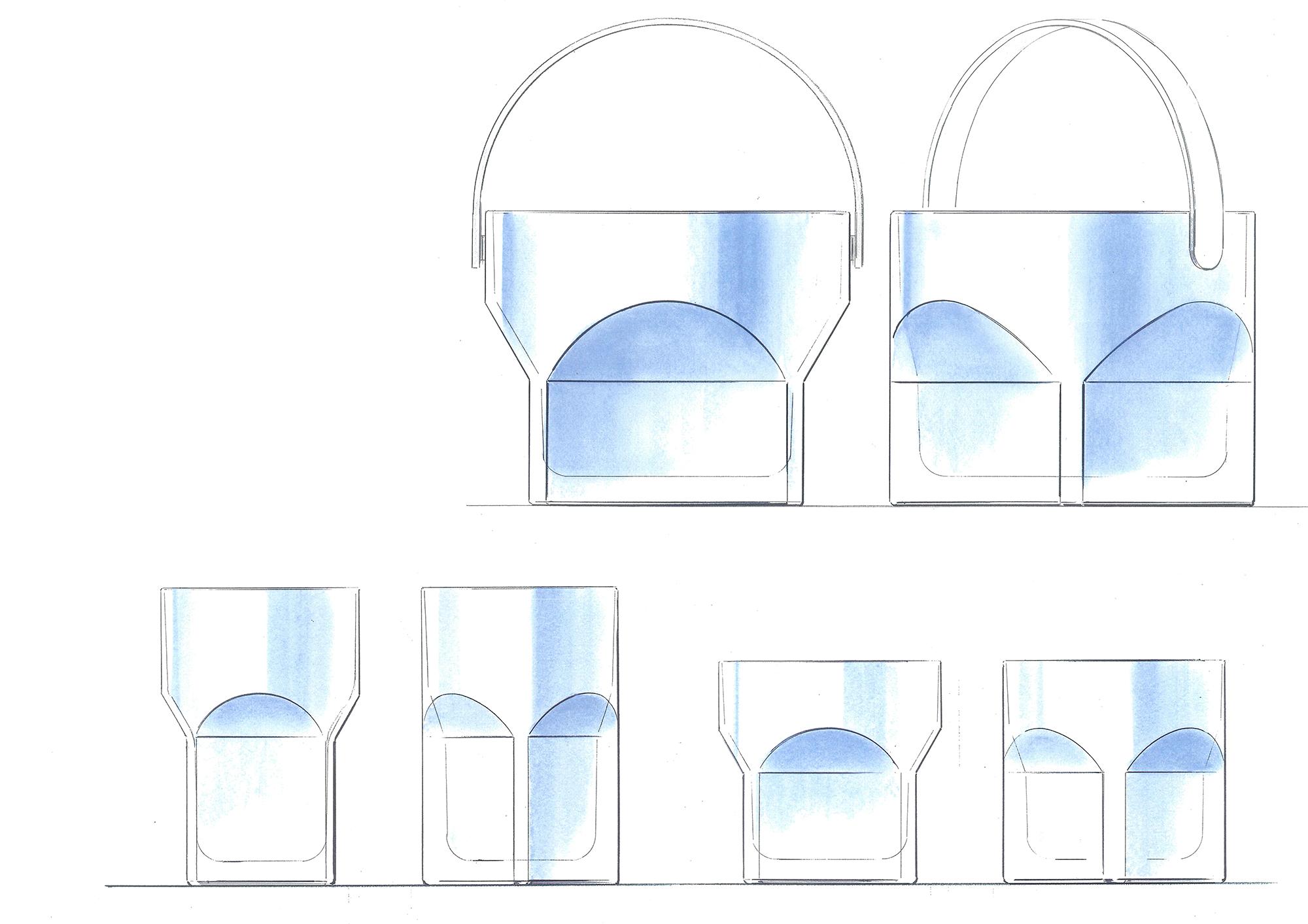 プロダクト・デザインや家具、空間デザインなど多くの作品を手掛ける川上元美のスケッチ。