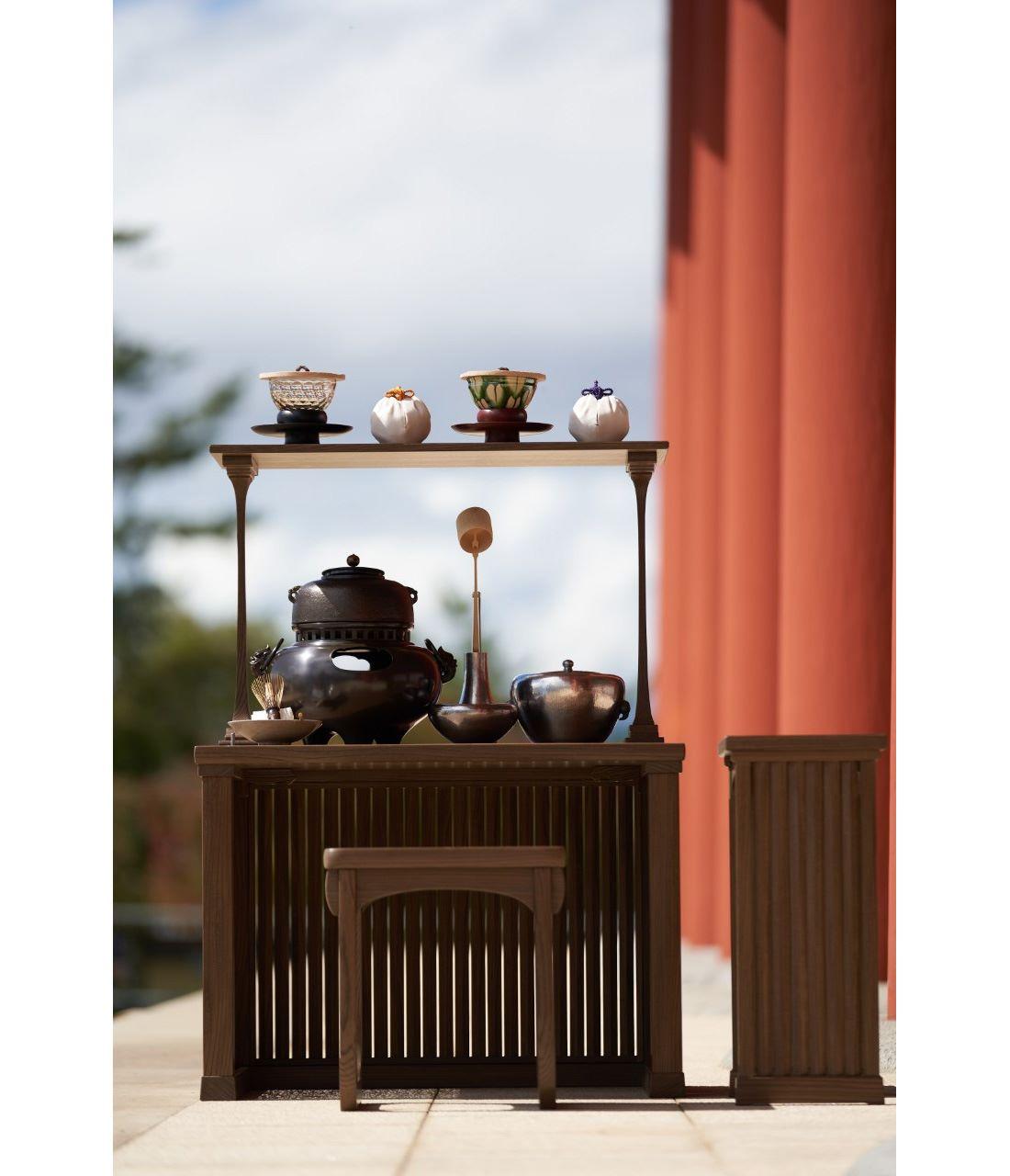 興福寺中金堂落慶法要献茶道具一式。Photography by Tadayuki Minamoto