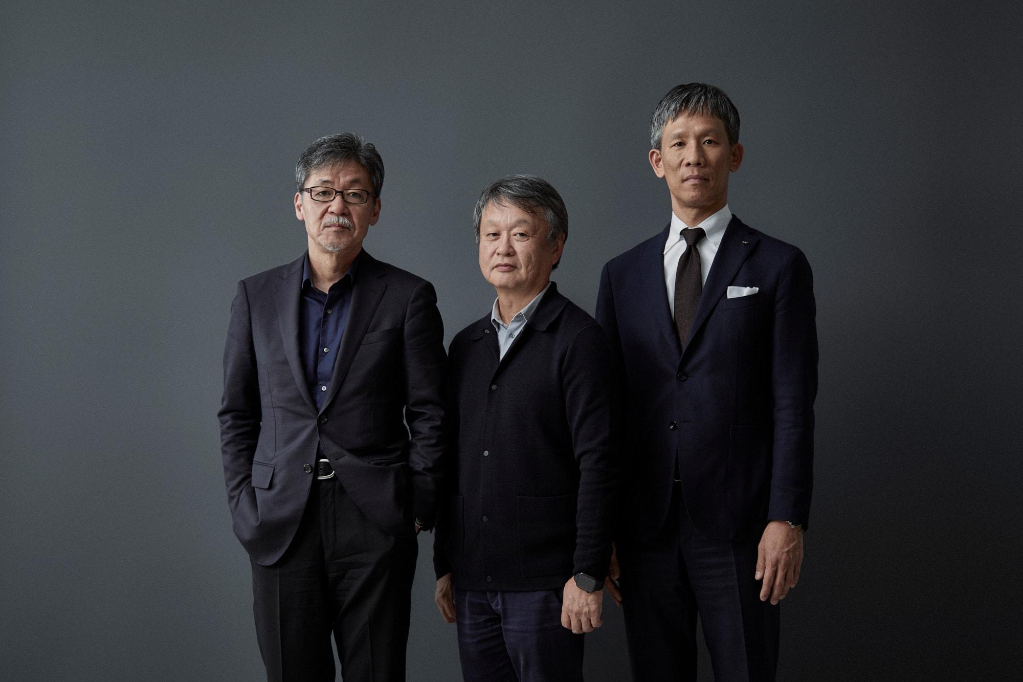 マツダの前田育男とデザイナーの深澤直人、マルニ木工の山中 武