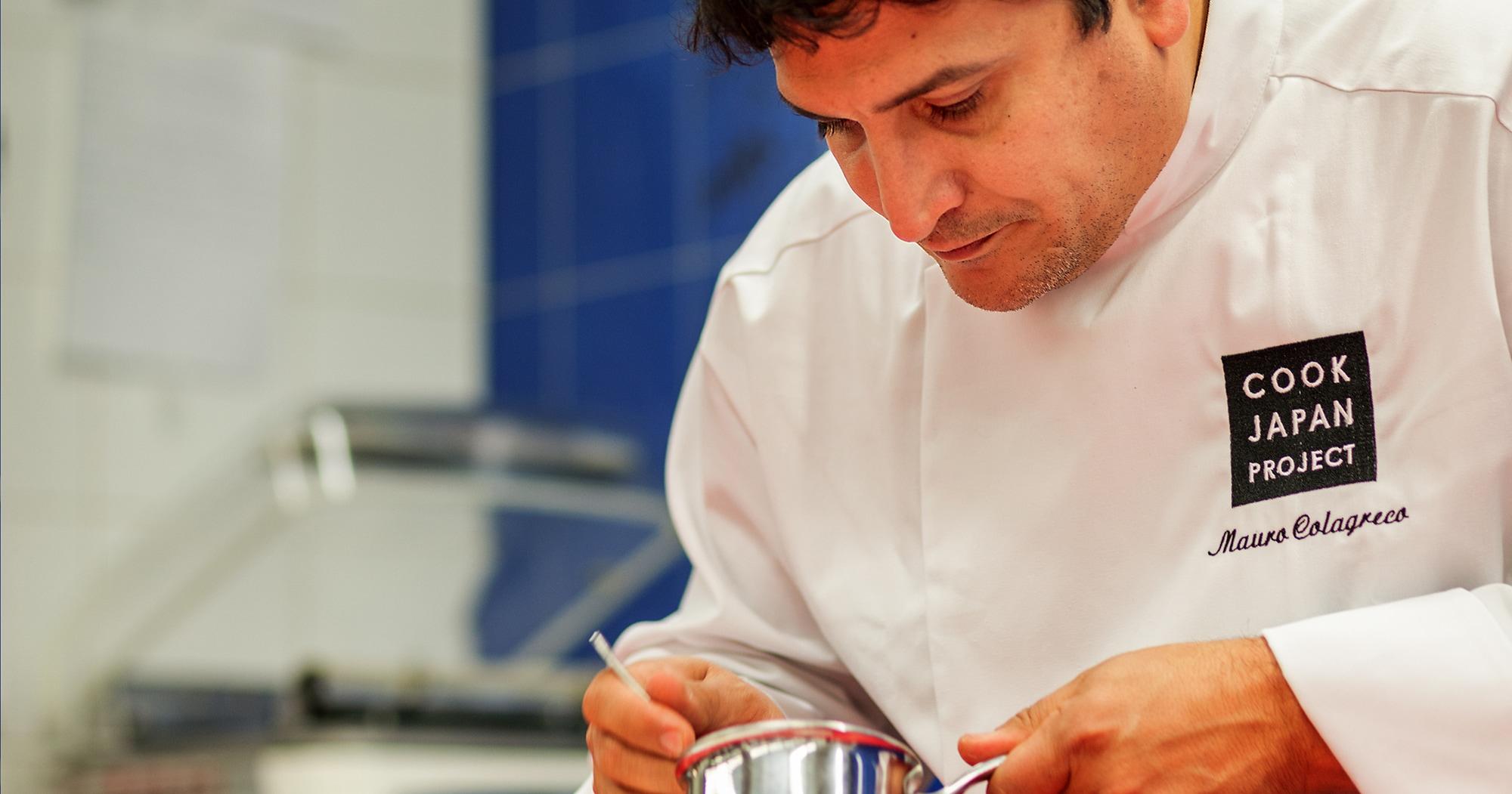 2019年4月~2020年1月まで10ヶ月間開催される「COOK JAPAN」。その言葉通り「日本の食材」を使って、世界のスターシェフが新しい料理を創り出すプロジェクトで来日して腕をふるったミラズールのシェフ、マウロ・コラグレコ。