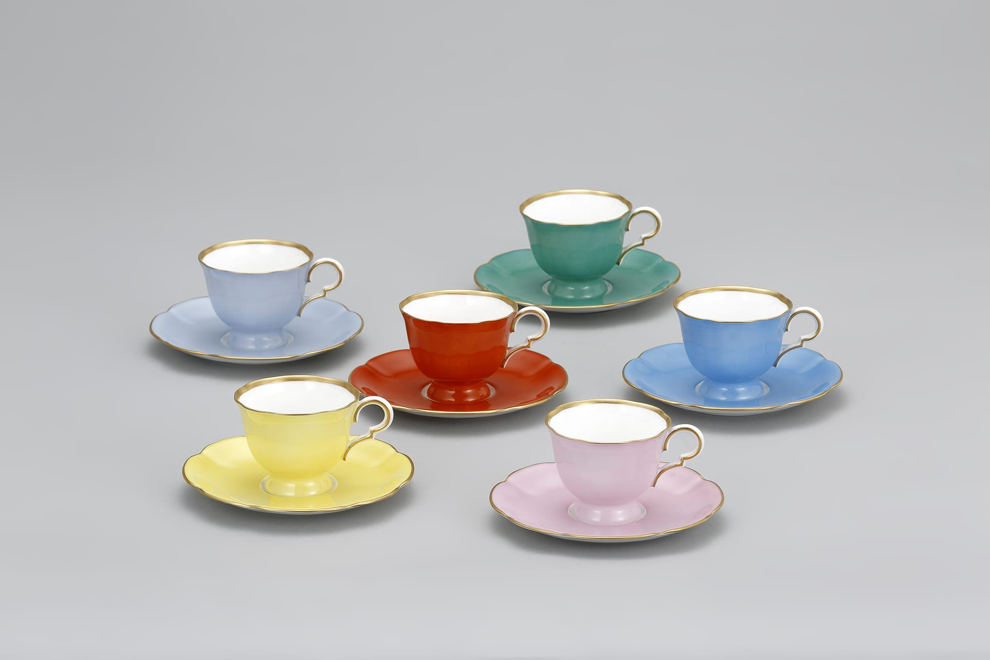 「色蒔デミタス碗皿」 1935-45年 東京村田コレクション