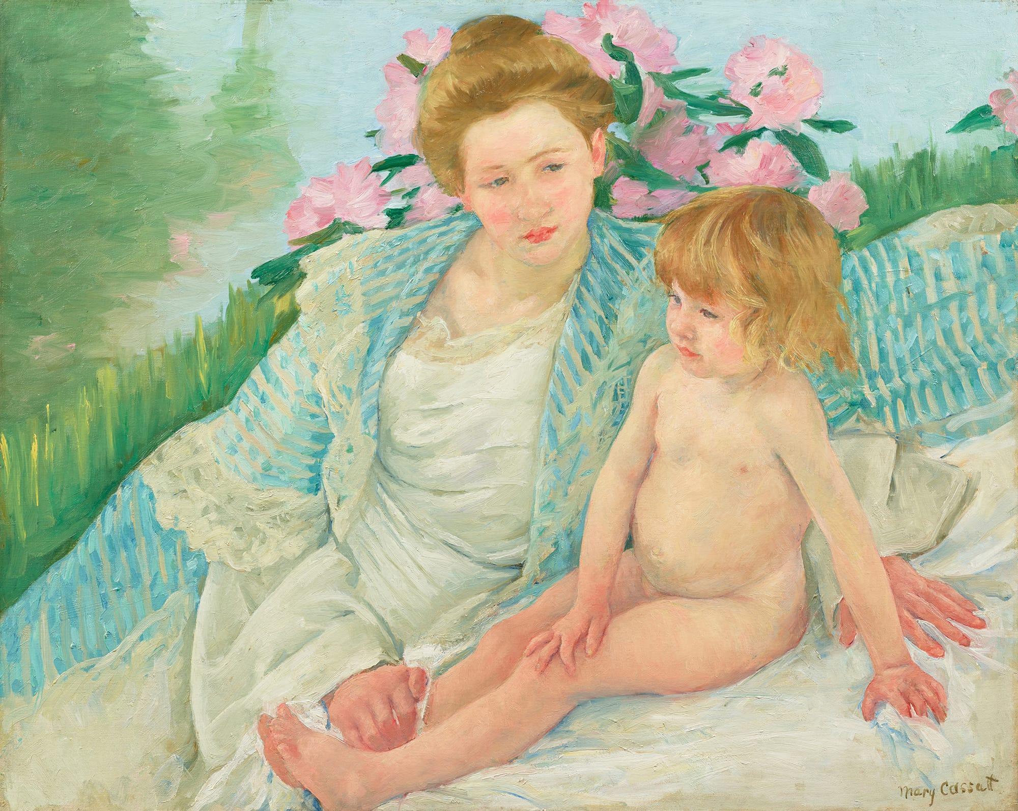 メアリー・カサット《日光浴(浴後)》1901年石橋財団アーティゾン美術館蔵(新収蔵作品)