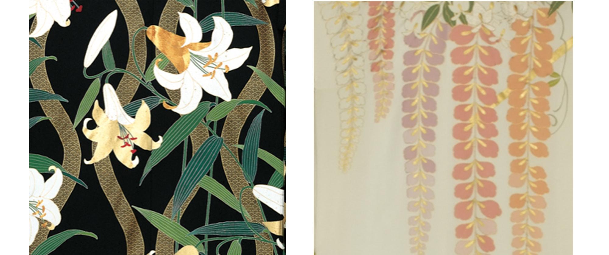百合や藤の花は、気品高く美しい日本女性をその姿に重ねることが多い
