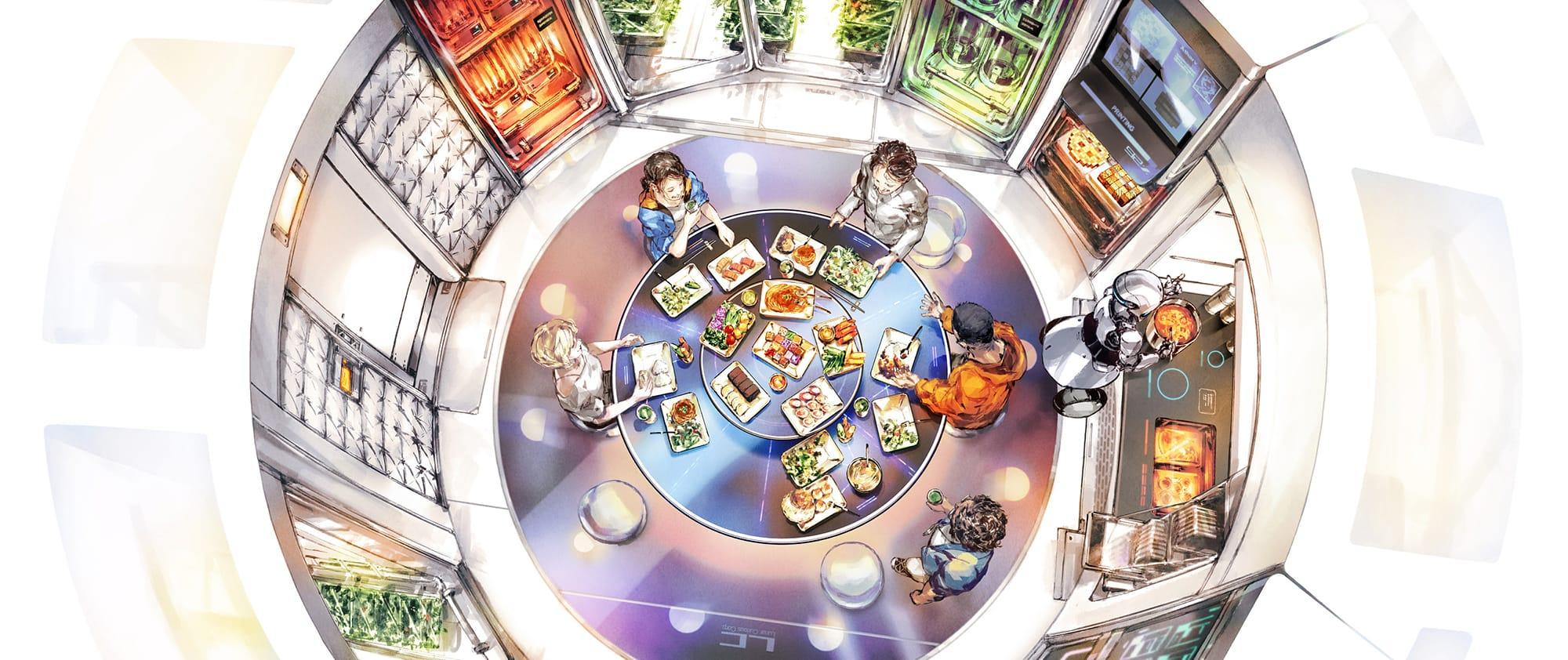 宇宙航空研究開発機構(JAXA)が参画するプロジェクト「Space Food X」未来の食卓。©︎Space Food X