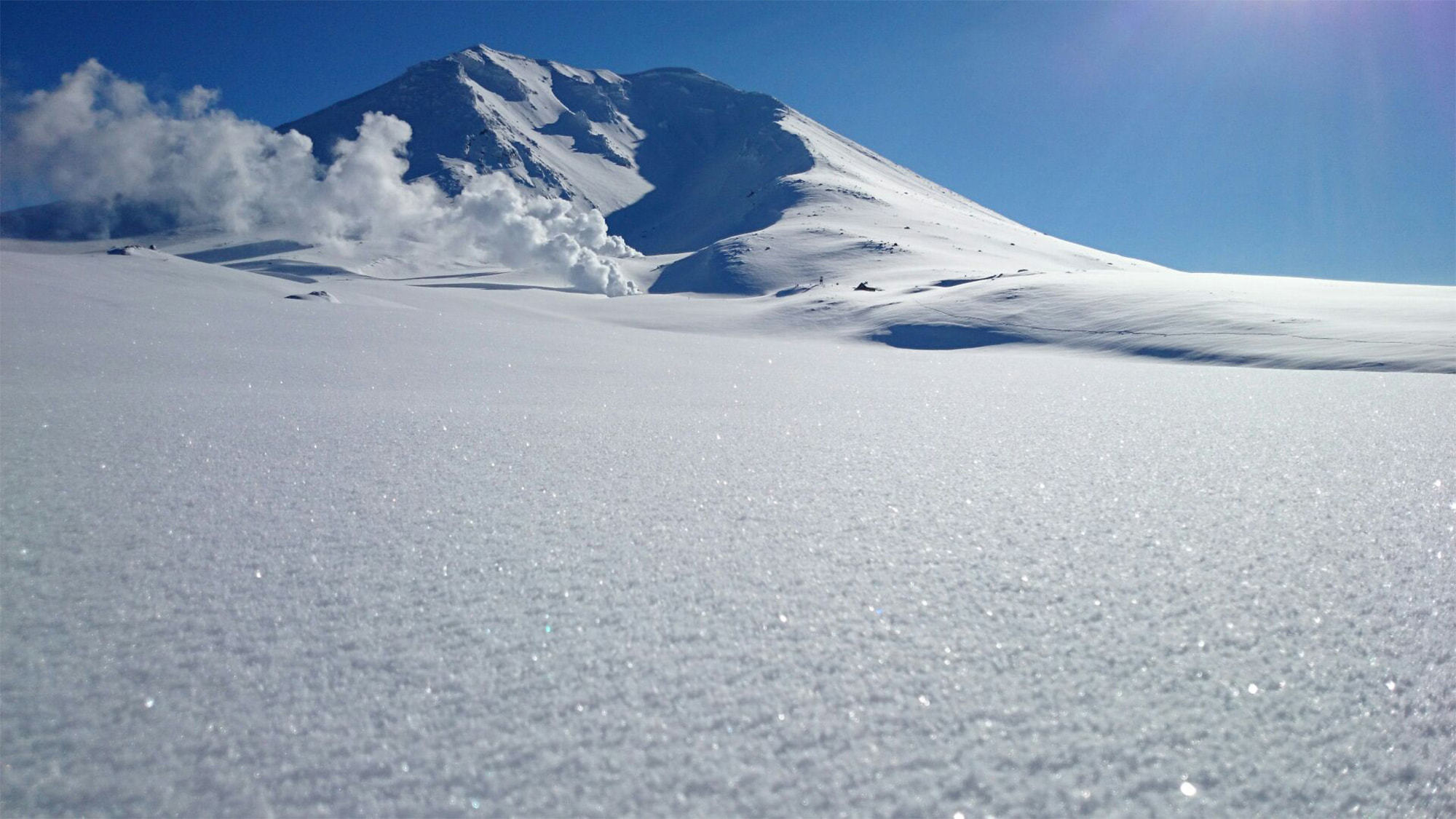大雪山旭岳の冬景色
