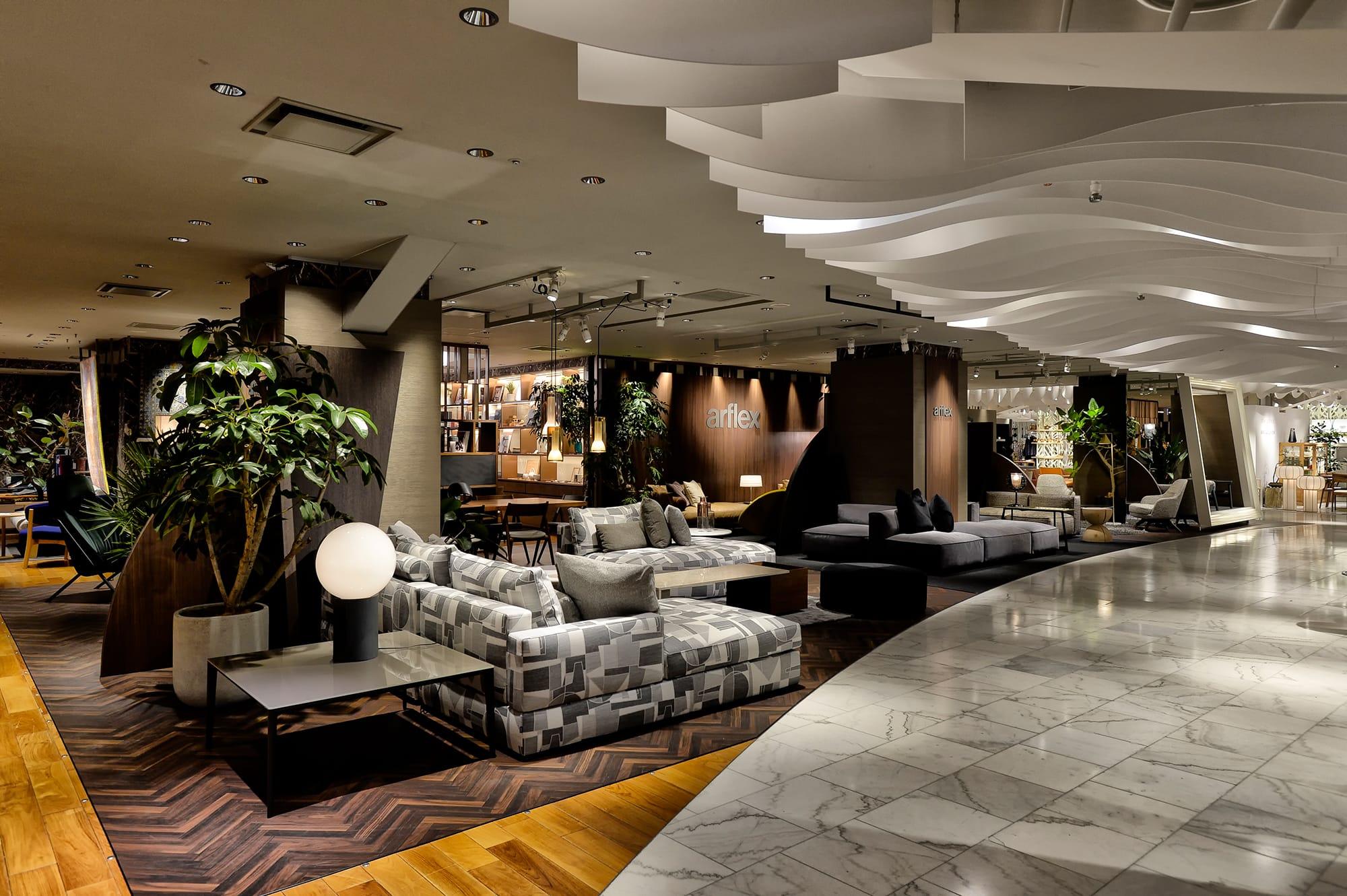 クリエイターズホテル<arflex> Hotel Loungeの展示風景