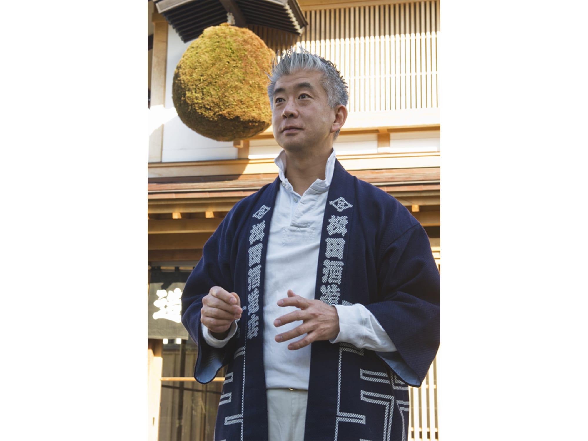 桝田酒造店五代目の桝田隆一郎は、酒造りと街づくりは、文化をまとうことが大切だと語る。