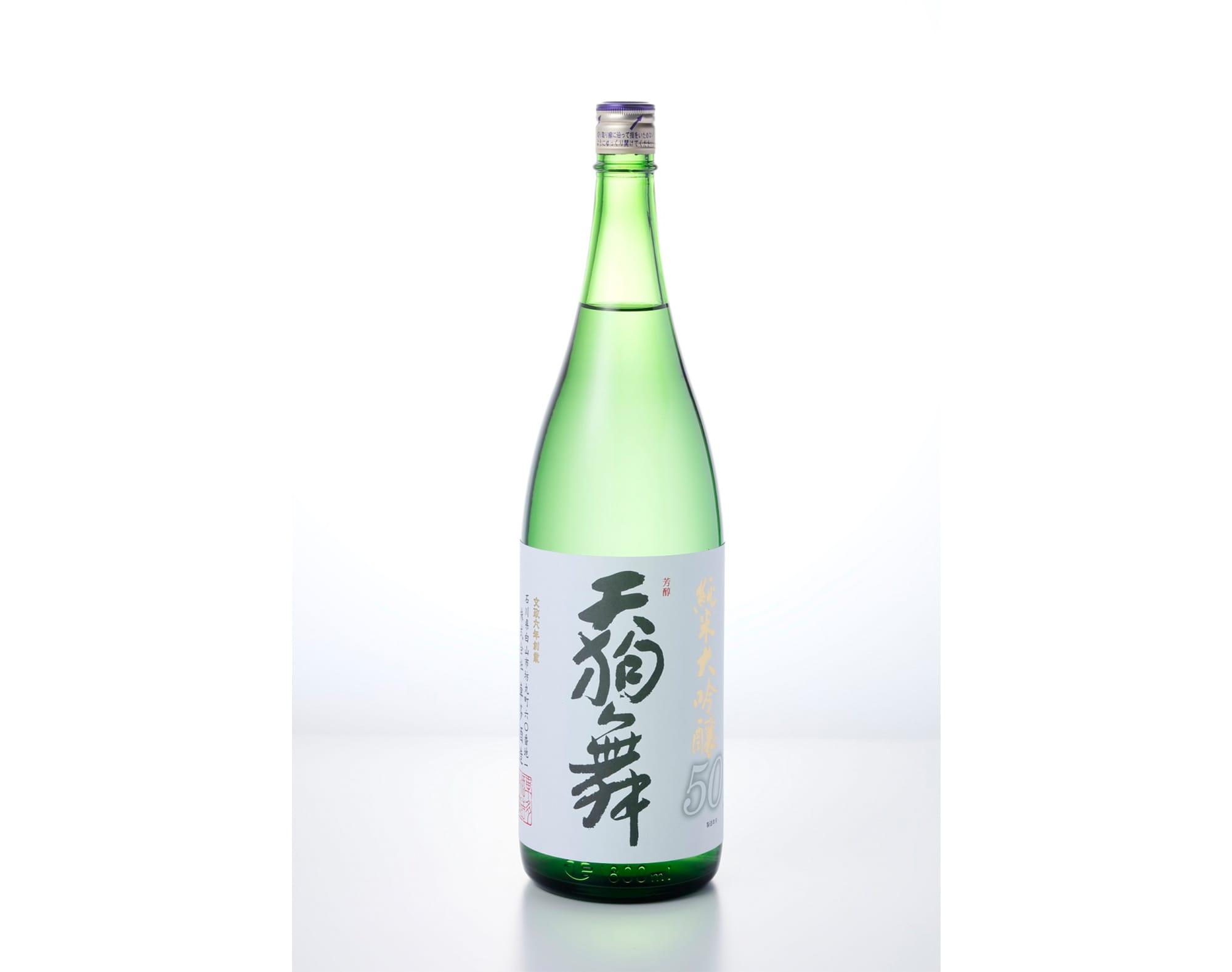 """""""天狗舞 纯米大吟酿50""""720ml 1,700日币(不含税)"""