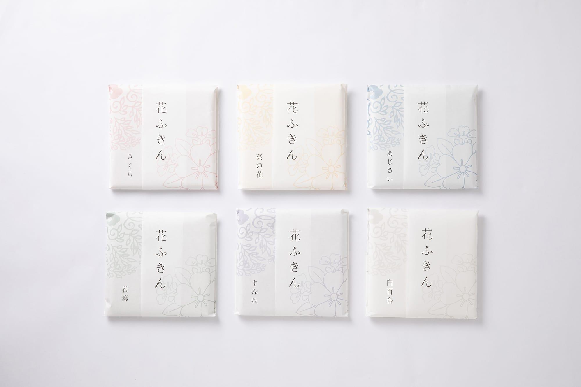 中川政七商店のヒット商品のひとつ「花ふきん」。花ふきんは奈良県産の「かや織」の生地で作られている。かや織は吸水性に優れ、乾きやすい。