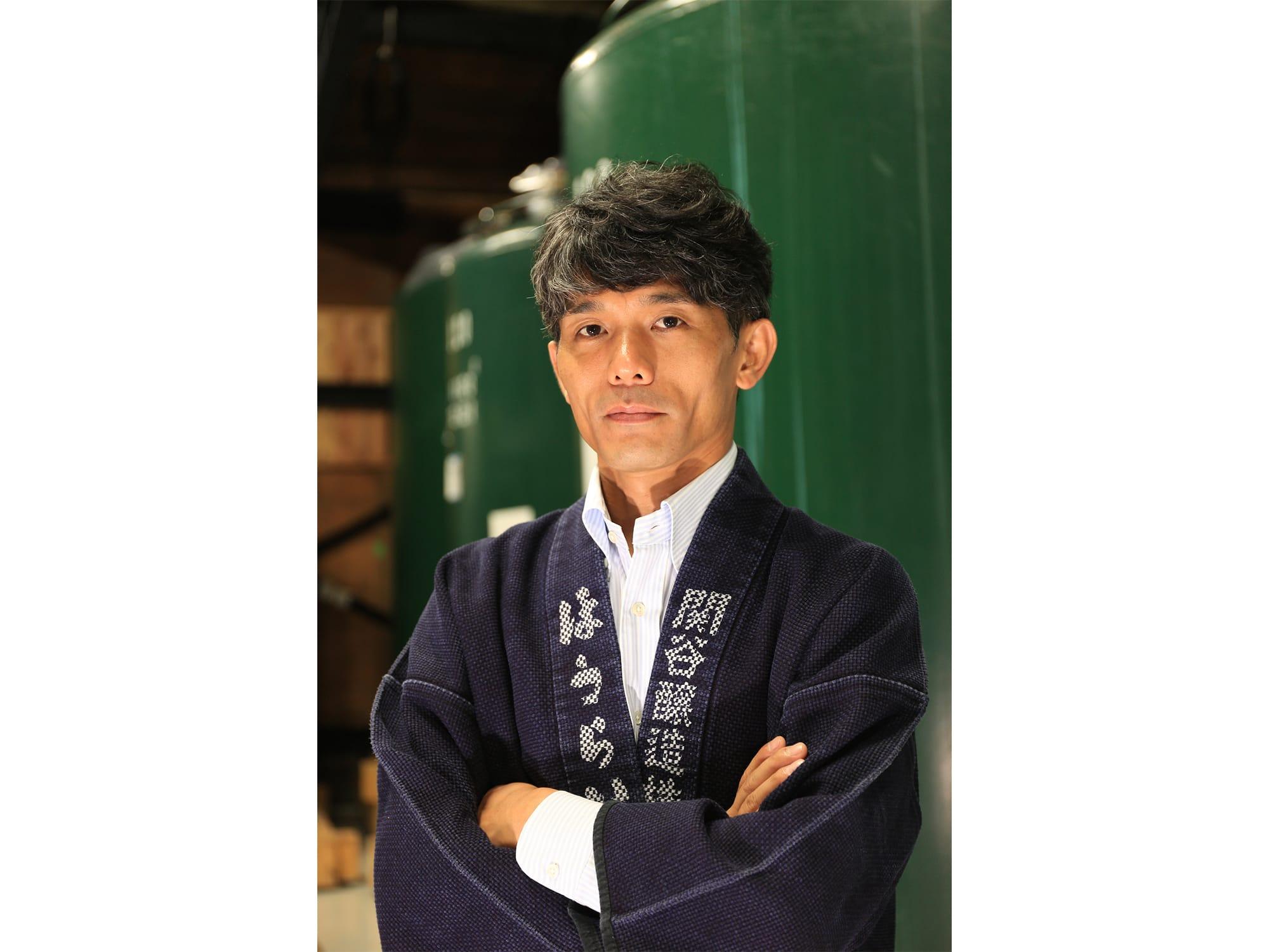 「日本酒造りは、エンターテイメントだと思っています。日本酒はお客様の人生を豊かにするツールだという意識でビジネスを展開していきたい」と語る、関谷健社長。