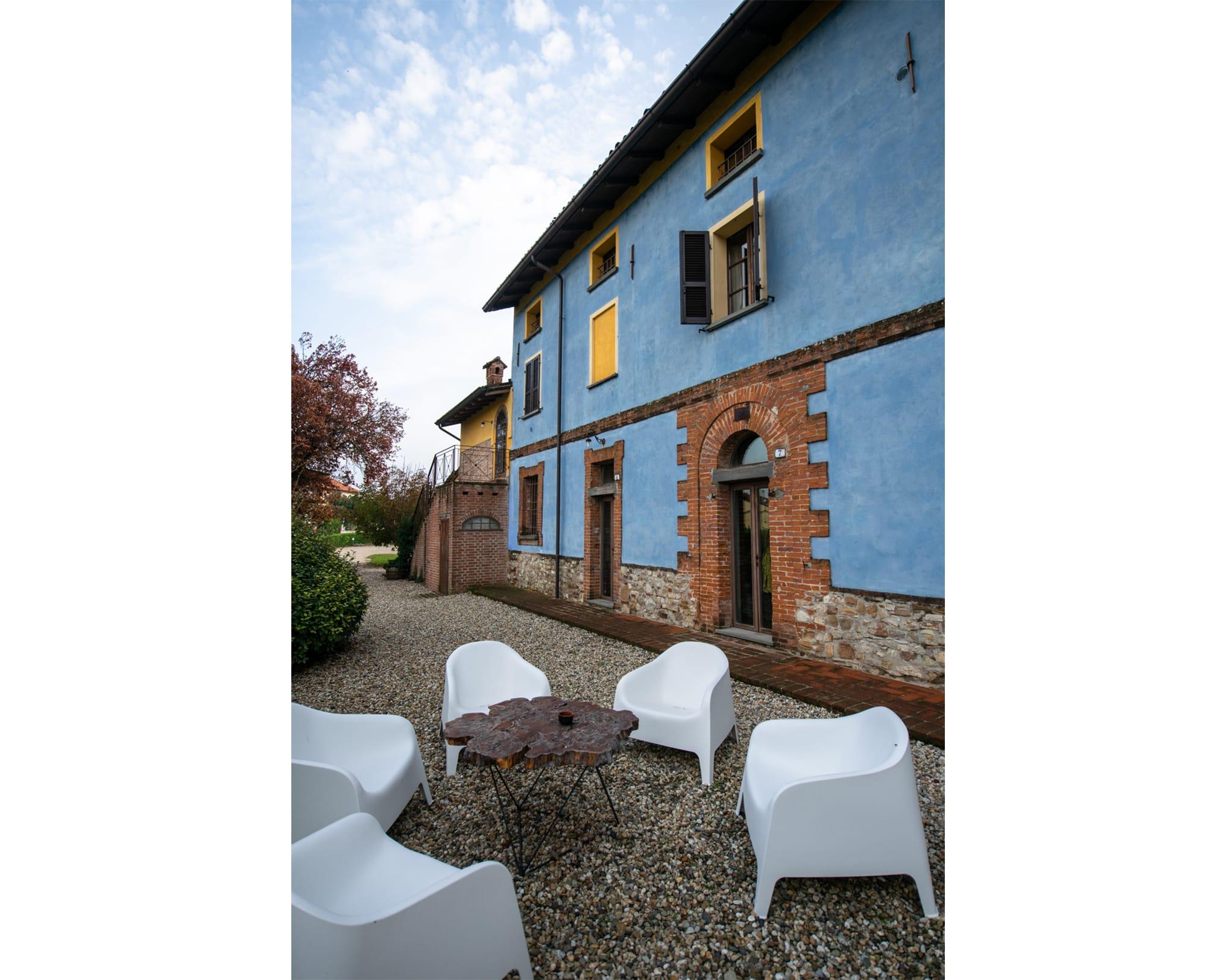 パルマ女公の別荘だった建物。現在はアグリツーリズモの宿に使われている。