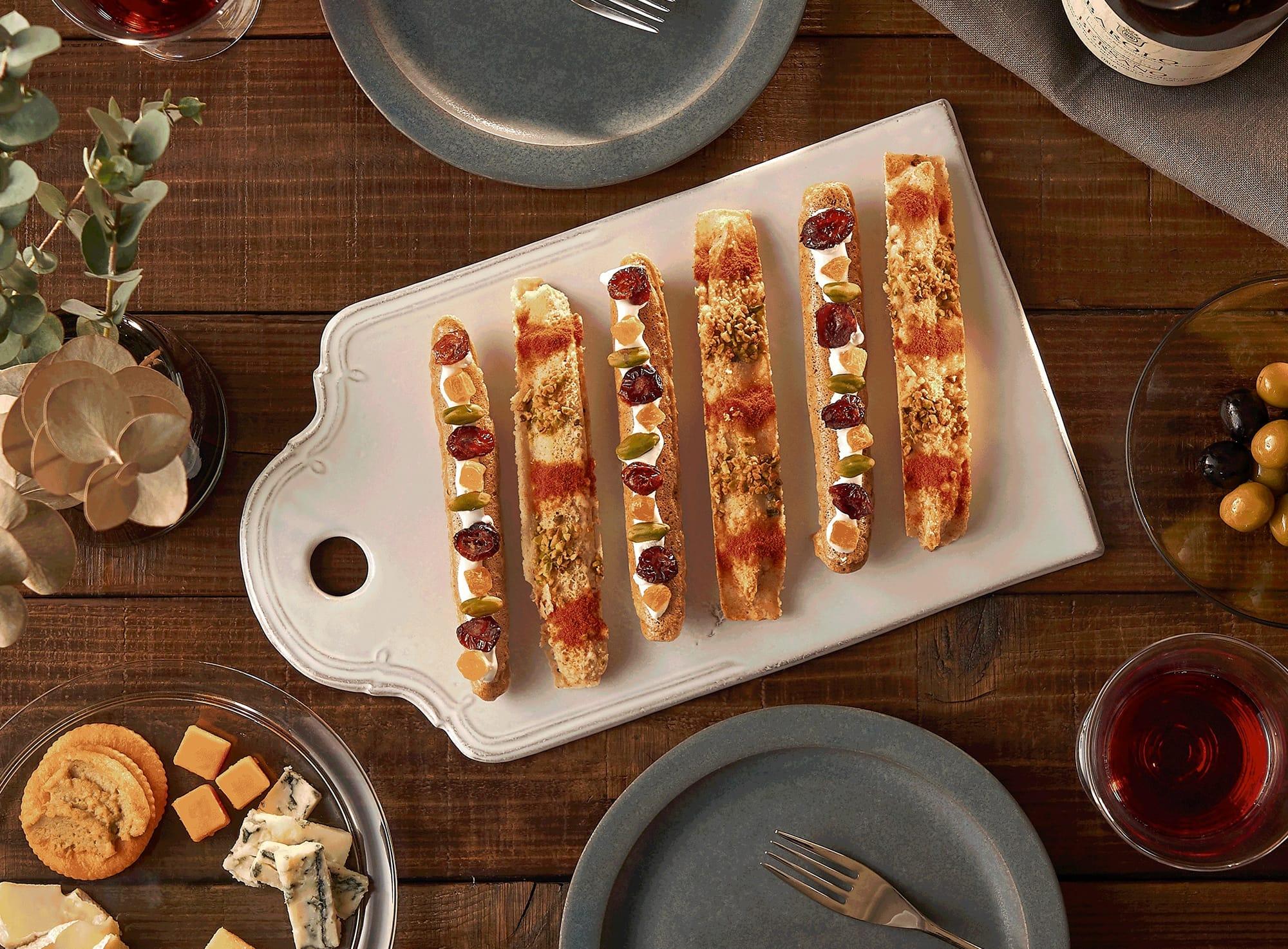 絵具パレットのようにカラフルで、ナッツやチーズの食感が楽しい「きりのさか RICE PALETTE(ライスパレット)」全2種類。