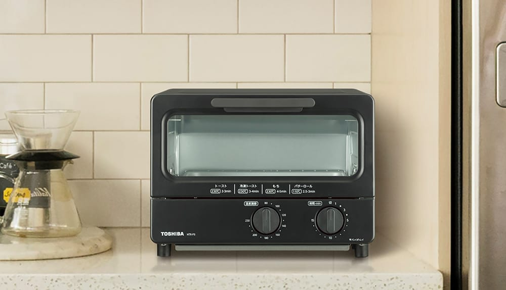 トースト2枚、20㎝のピザまで焼けるワイドな庫内を実現。