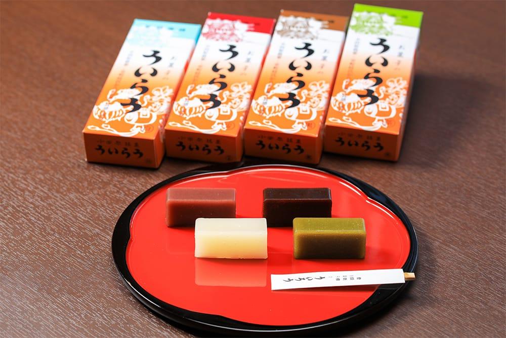 小田原の名物「お菓子のういろう」。創業以来650年伝わる伝統の棹型で作られたういろうをネットで購入できるのはここだけ。