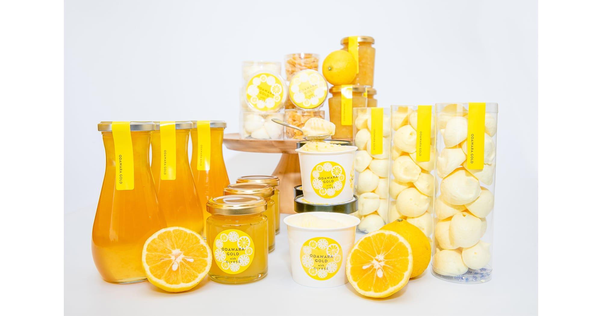 幻のオレンジと言われる小田原産の湘南ゴールドをふんだんに使った「小田原ゴールド」のスイーツ。