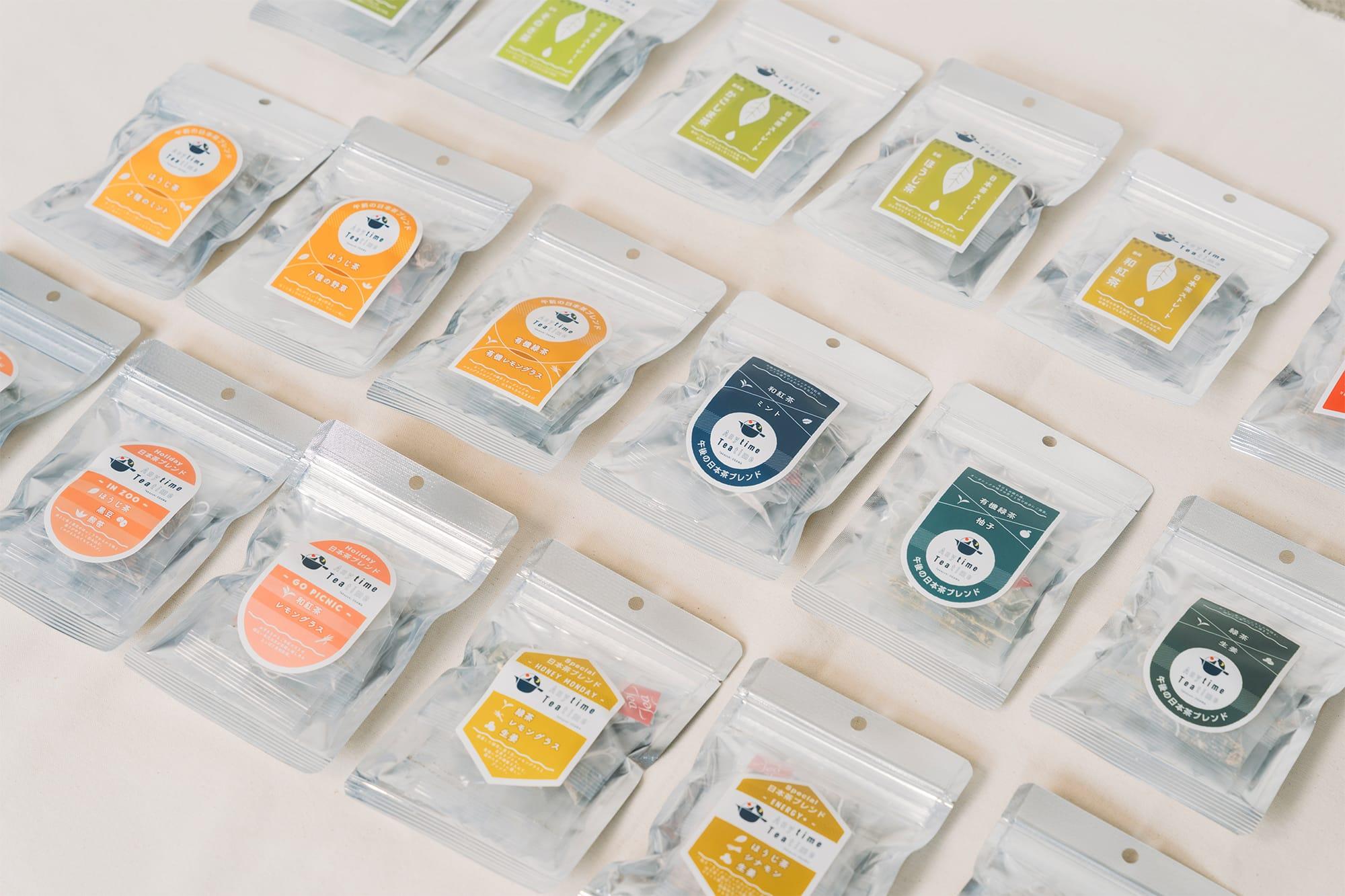 日本茶ブランド「Anytime Teatime」は全18種類。