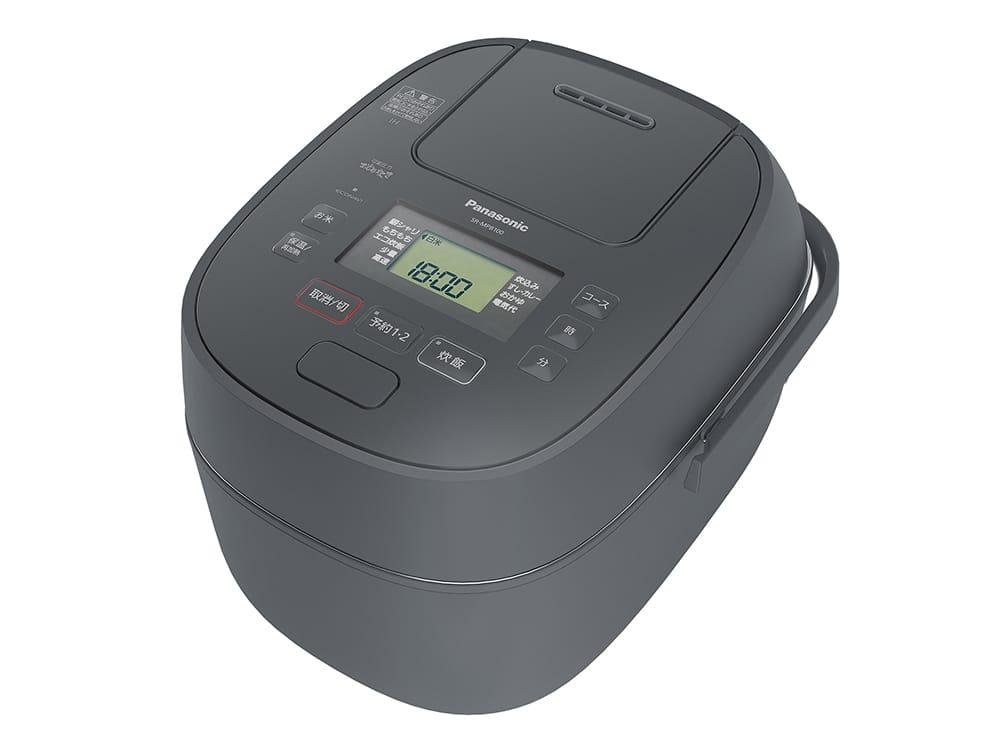 新制御の「可変圧力おどり炊き」機能付きで、ふっくらと美味しく炊き上がる「SR-MPB0」。カラーはグレー。