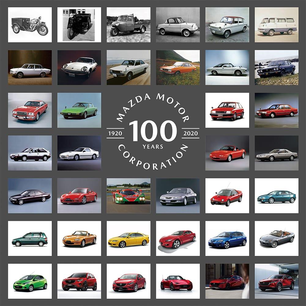 マツダファン垂涎の「モデルカー コレクション」(43分の1スケーモデル)は、年内に順次発売、合計で40モデルのコレクションとなる。コスモスポーツ100周年限定モデル9,570円、R360クーペ100周年限定モデル9,570円、RX-ビジョン100周年限定モデル15,290円などが一堂に。(すべて税込)