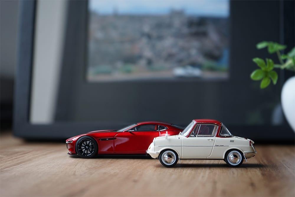 精密に再現された「モデルカー コレクション」。