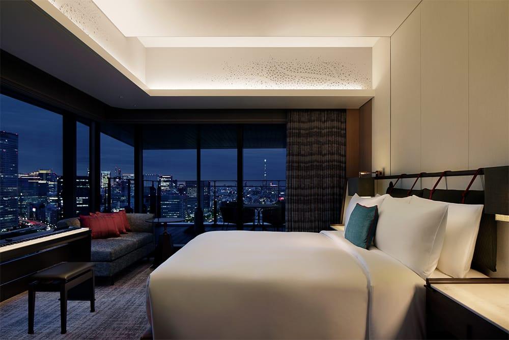 インテリアも眺望も、東京の今を体感できる客室。
