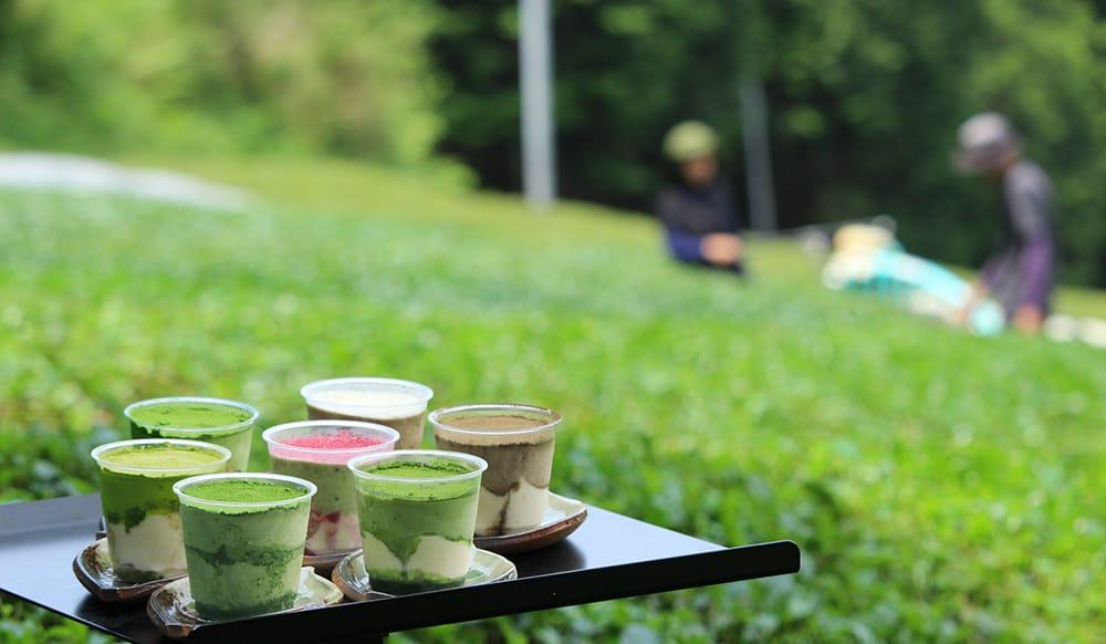 風味豊かな宇治茶の魅力を味わう宇治茶ティラミスのセットは、4個セットと8個セットがある。