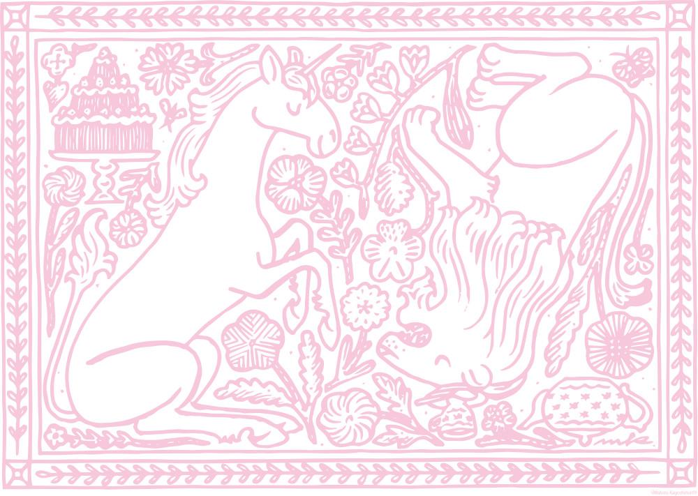 系列のdieci caféでは、スペシャルメニューが登場。鹿児島がデザインしたランチョンマットで提供する。