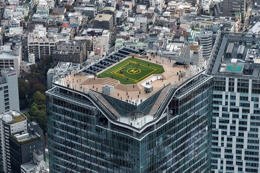 「渋谷スクランブルスクエア」の全体構成と高層部及び頂部展望施設「渋谷スカイ」のデザインを担当した。Photo by エスエス東京