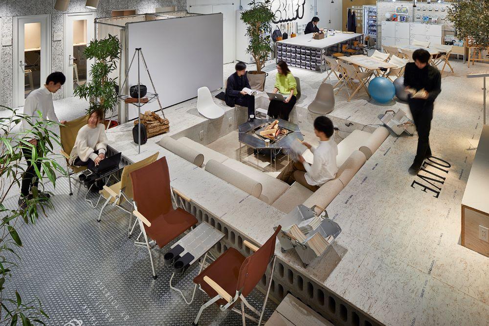 NADがディレクションに関わる「ワークスタイリング」。ここは日本の新しい働き方を実現するために三井不動産が仕掛ける法人向け多拠点型シェアオフィス。 Photo by 鈴木 渉