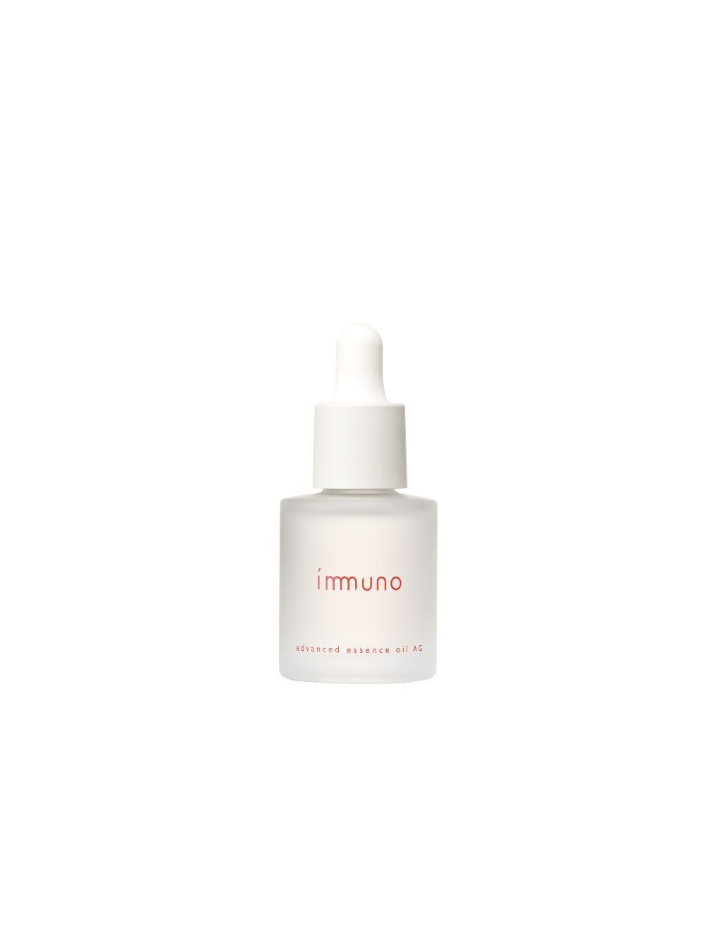 保湿や浸透性を高め、肌にツヤと弾力を導く先行型オイル美容液。 immuno アドバンスド エッセンスオイル AG  30mⅬ 6,500円(税別)