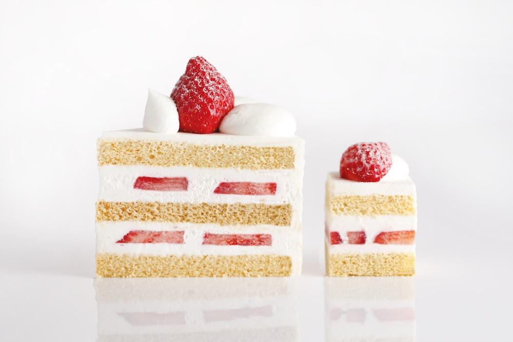 ホテルニューオータニのグランシェフ、中島眞介氏によるシグネチャーケーキ「スーパーあまおうショートケーキ」
