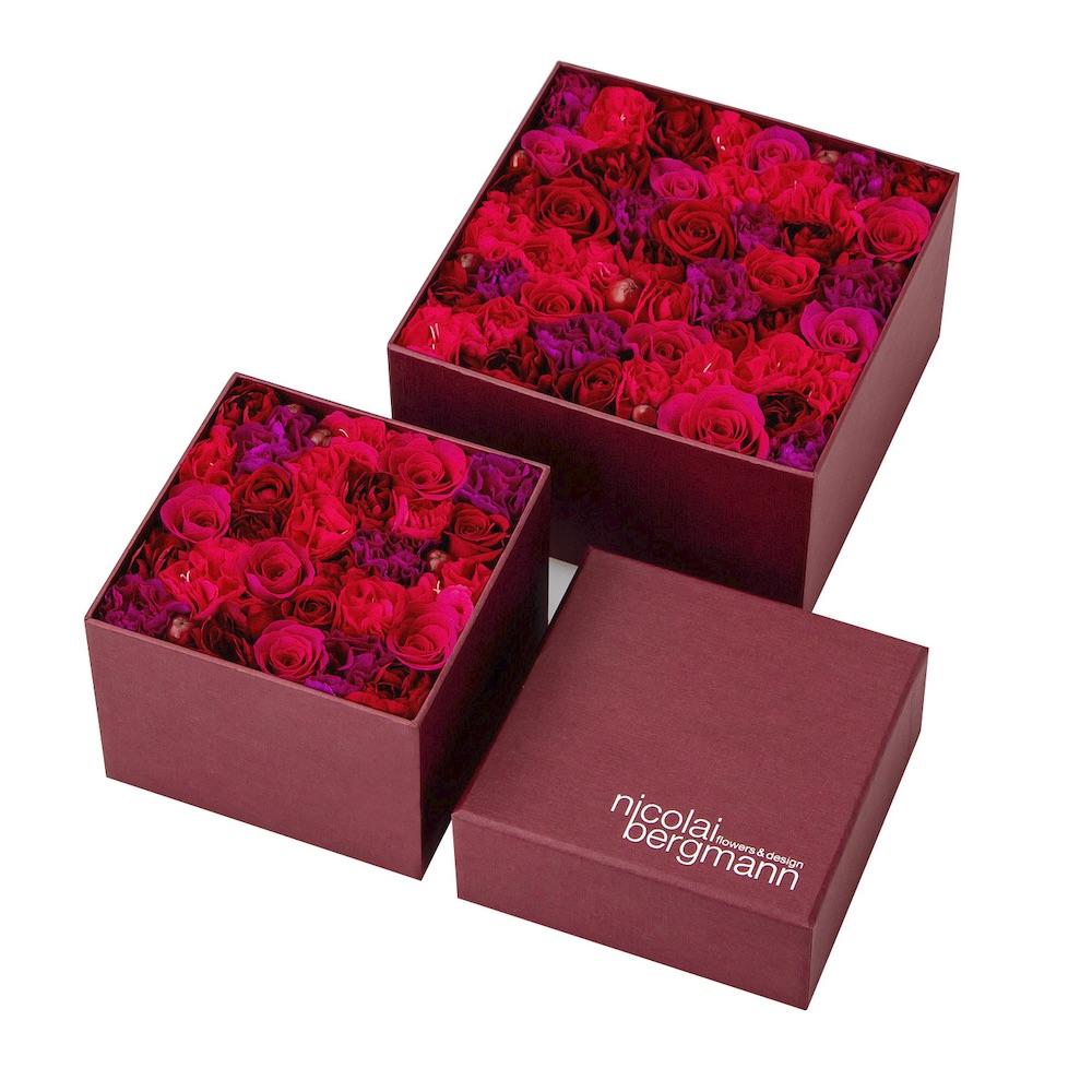 ニコライ バーグマンの、バレンタイン&ホワイトデー限定フレッシュフラワーボックス。