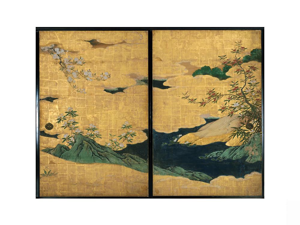 重要文化財《四季花木図襖》