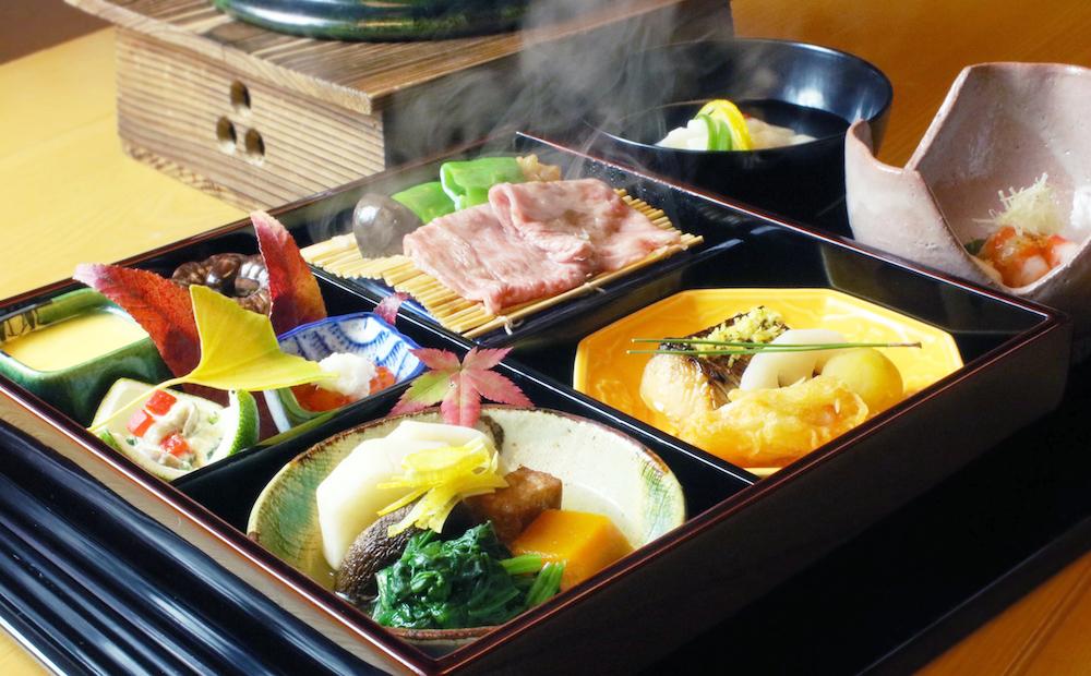 イベントで提供される松花堂弁当の特別メニュー