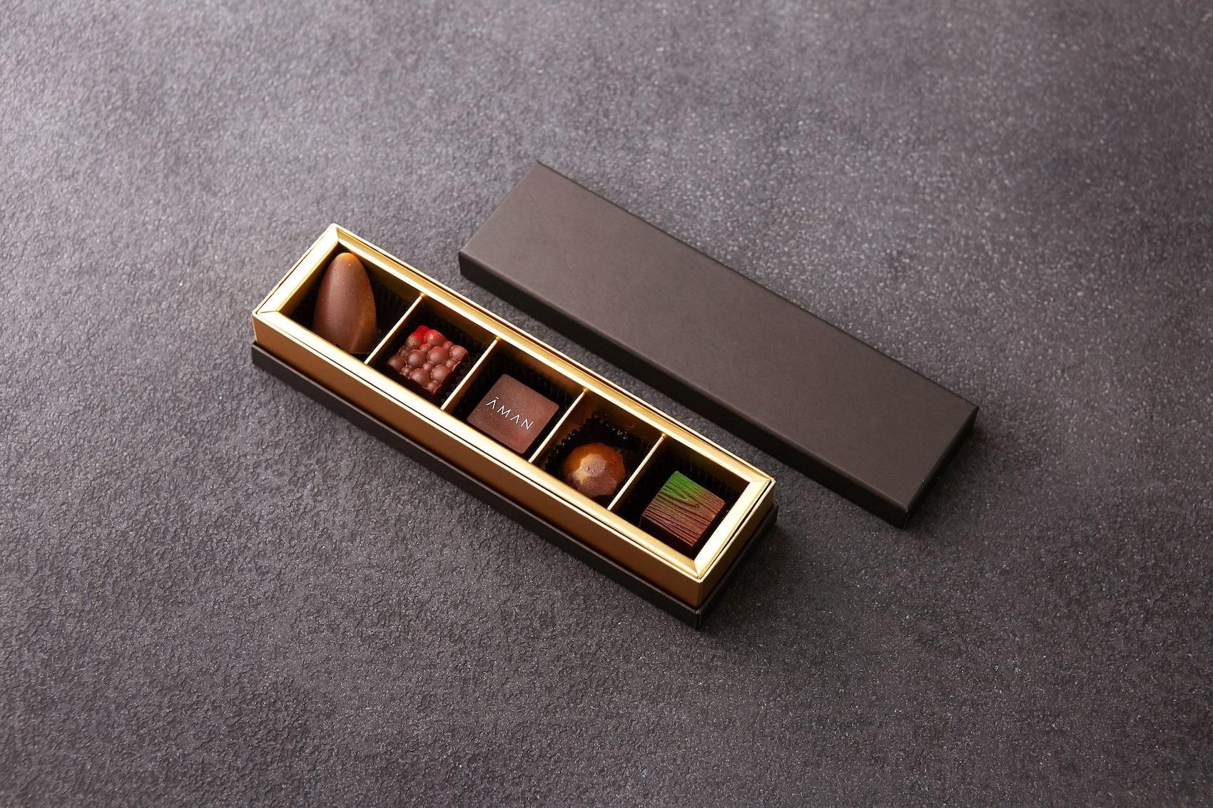 アマン東京のチョコレート5個セット