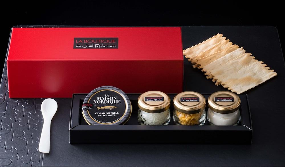 テイクアウトメニュー「フランス・ソローニュ産キャビアを様々なコンディモンと共に」