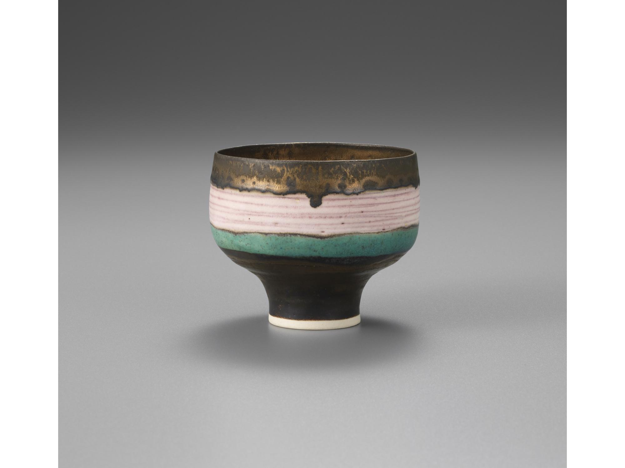 ルーシー・リー《ピンク象嵌碗》
