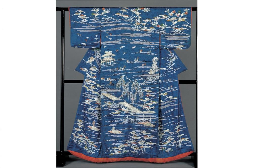 近江八景文様小袖