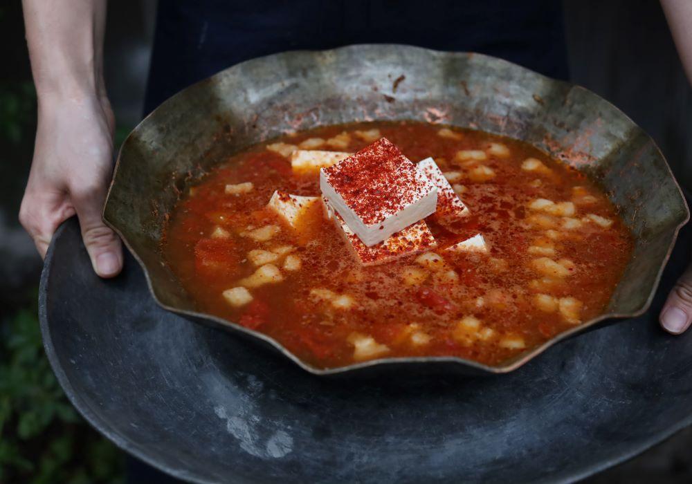トマトの豆腐料理