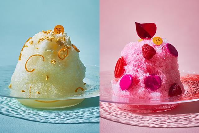 ここだけでしか食べられないかき氷が登場。イスパハンのほか、「かき氷 サティーヌ」(2,000円・税込・サービス料別)も。