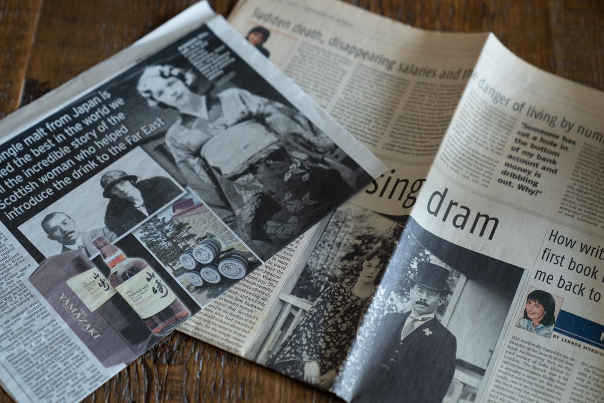 日本ウイスキーの父である祖父とスコットランド人の祖母リタの物語は世界で紹介されている。