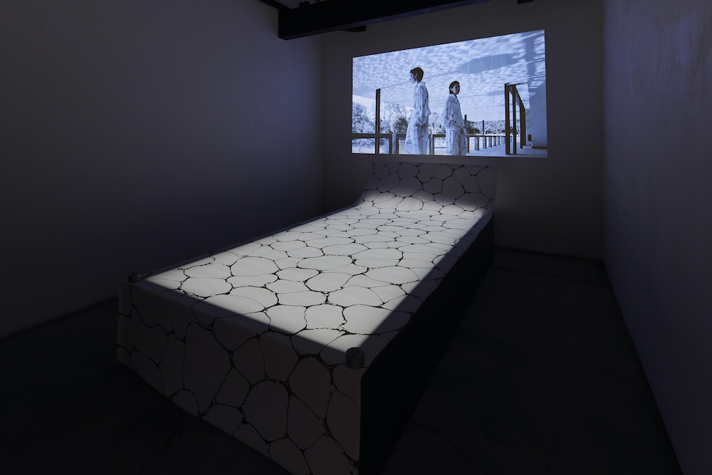 ISSEY MIYAKE 「墨流し」展示風景